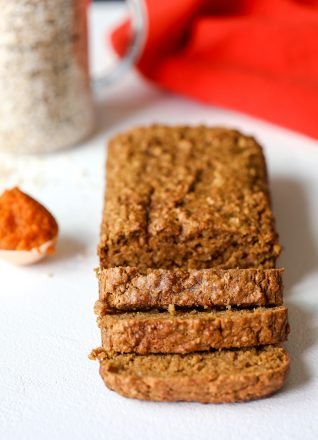 This Pumpkin Oat Breakfast Bread is great to prep for the week and have a gluten free and nutritious breakfast for everyone from babies to kids to adults!