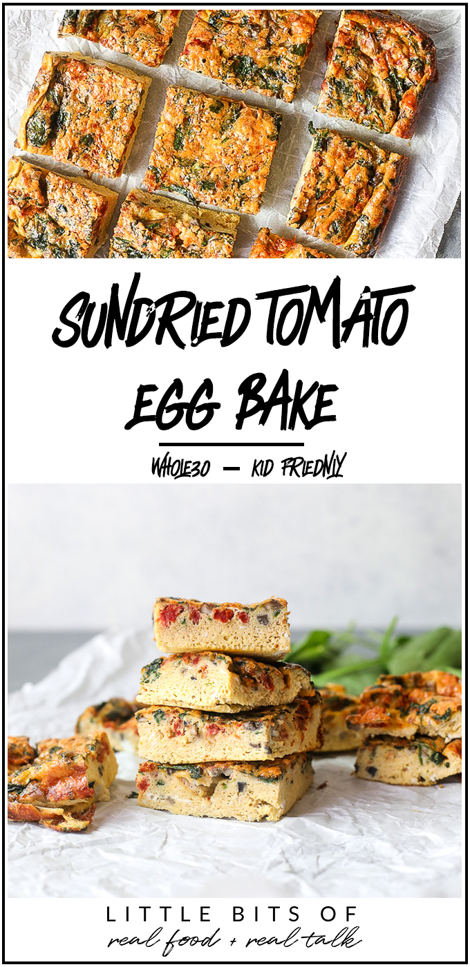This Sun-dried Tomato Egg Bake is a delicious way to start your day and super easy to meal prep!
