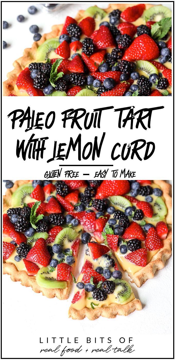 This Paleo Fruit Tart with Lemon Curd is so simple to make and perfect for a summer party!