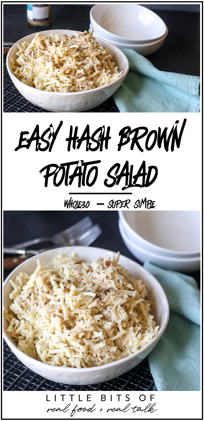 This Easy Hash Brown Potato Salad is so simple and a great weeknight side dish!