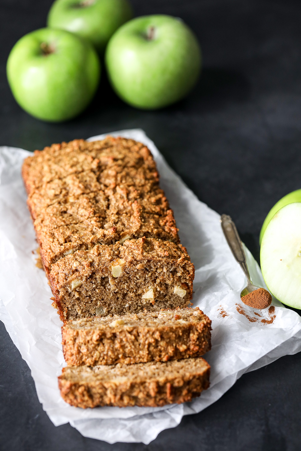 This Apple Spice Breakfast Bread is a great gluten free breakfast option you can make on a sunday and last you and a kid all week!