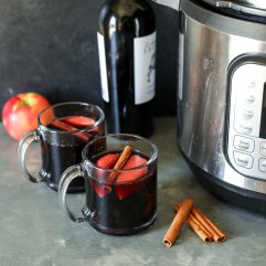 This Instant Pot Mulled Wine is super easy to make and great for the holidays!