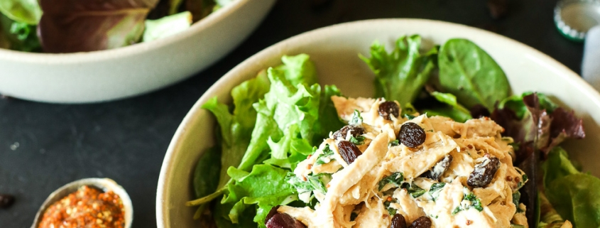 This Maple Tahini Chicken Salad is a paleo recipe that is so simple yet has amazing flavor!