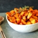 These Maple Thyme Roasted Sweet Potatoes are so simple to make yet so delicious!