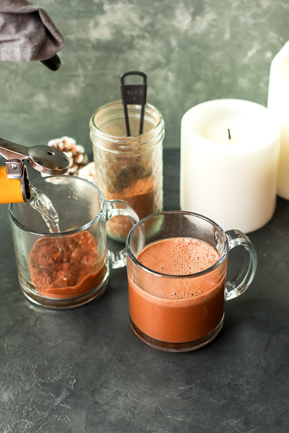 This Paleo Hot Chocolate Mix is super easy to make and have on hand so all you have to do is add hot water!
