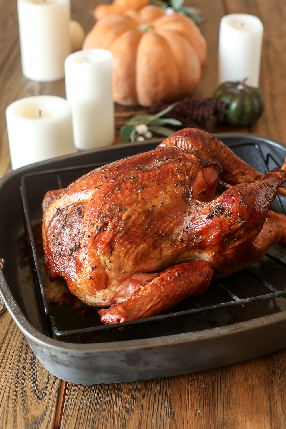 This Whole30 Smoked Turkey recipe is simple, delicious and perfect for saving oven space on thanksgiving!