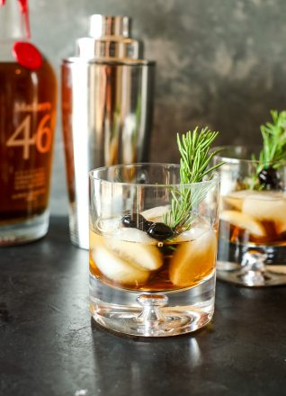 This Holiday Old Fashioned is a delicious twist on a classic cocktail!
