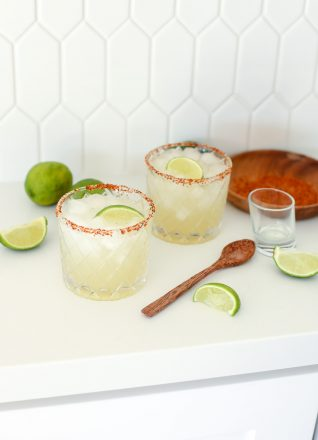 This the the best healthy margarita ever and it's my favorite because I always have the ingredients on hand!