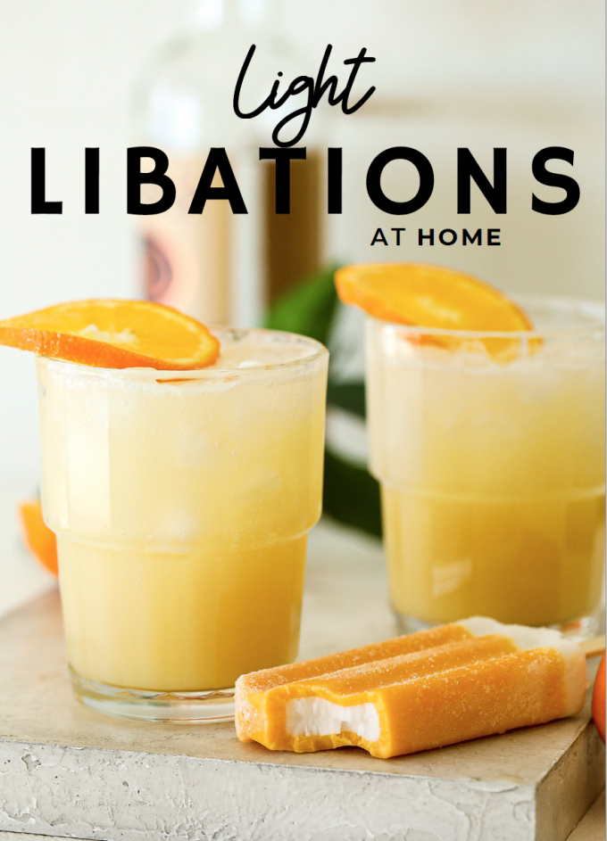Light Libations at Home is a cocktail ebook filled with 16 drink recipes that are perfectly healthy and boozy!