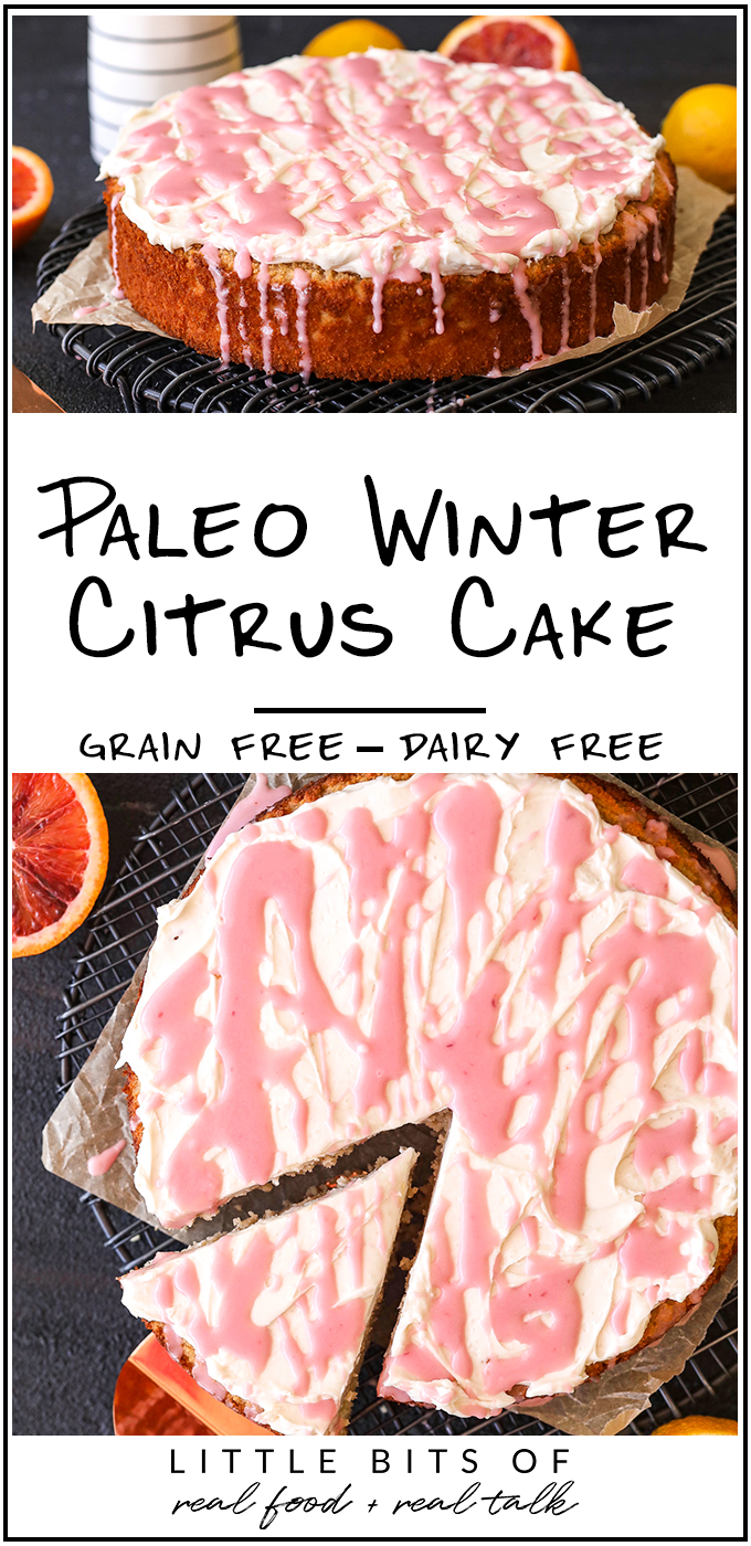 This Paleo Winter Citrus Cake is simple to make, grain free, dairy free and perfect for any occasion!