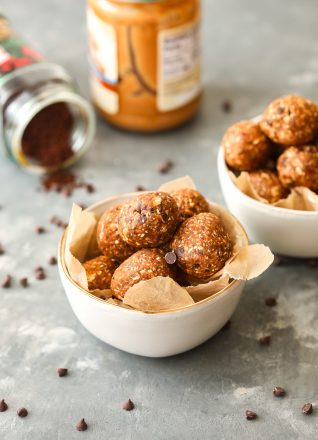 These Peanut Butter Coffee Energy Balls have so much flavor and are packed with good stuff to curb your hungry and give you a boost of energy!