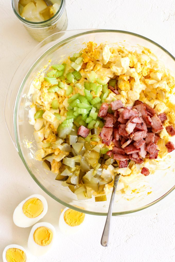 This Leftover Easter Egg Salad is the perfect dish for you to make year after year the week after easter!